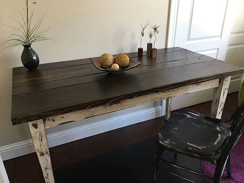 reclaimed wood, farm table, modern table, farmhouse table, cottage table, contemporary table, rustic table, wood side table